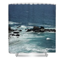 Ocean Blue Shower Curtain by Carla Carson