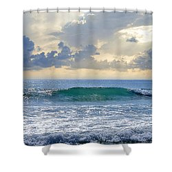 Ocean Blue Shower Curtain by Laura Fasulo
