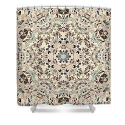 Ocean Breeze 51c02 - Mandala Shower Curtain by Aimelle