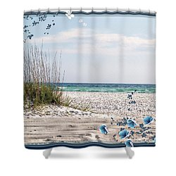 Shower Curtain featuring the photograph Ocean Breeze by Athala Carole Bruckner
