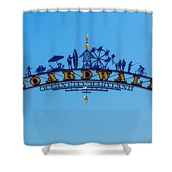 Ocean City Boardwalk Arch Shower Curtain