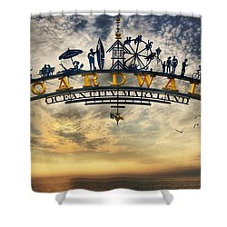 Ocean City Boardwalk Shower Curtain