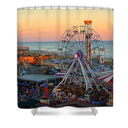 Ocean City Castaway Cove And Music Pier Shower Curtain