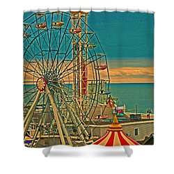 Ocean City Castaway Cove Ferris Wheel Shower Curtain