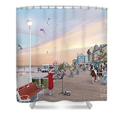 Ocean City Maryland Shower Curtain by Albert Puskaric