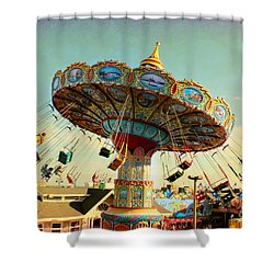 Ocean City Nj Carousel Swing Time Shower Curtain