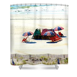 Ocean City Nj Stars And Stripes Shower Curtain