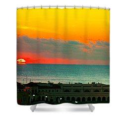 Ocean City Sunrise Over Music Pier Shower Curtain