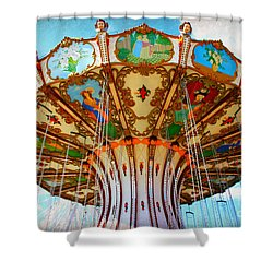 Ocean City Swing Carousel Shower Curtain