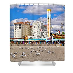 Ocean City View Shower Curtain