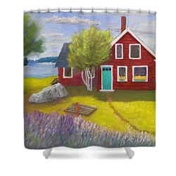 Ocean Cottage Shower Curtain