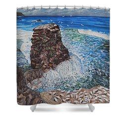 Ocean Dream Shower Curtain by Caroline Street