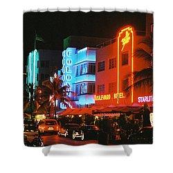 Ocean Drive Film Image Shower Curtain