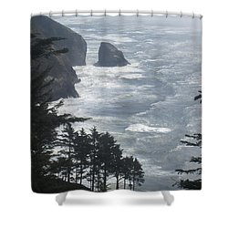 Ocean Drop Shower Curtain by Fiona Kennard