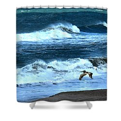 Ocean During A Storm Shower Curtain by Sandi OReilly