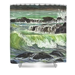 Ocean Emotion Lajolla Cove Shower Curtain