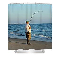 Shower Curtain featuring the photograph Ocean Fishing by Cynthia Guinn