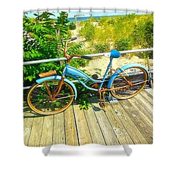 Shower Curtain featuring the photograph Ocean Grove Bike by Joan Reese
