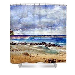 Ocean  Inlet Beach In Boynton Beach Shower Curtain