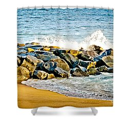 Ocean Jetty Shower Curtain by Colleen Kammerer