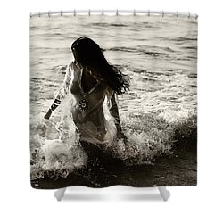 Ocean Mermaid Shower Curtain by Jenny Rainbow