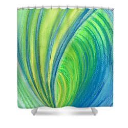 Ocean Of Dark And Light Shower Curtain by Kelly K H B