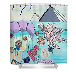 Ocean Parade Shower Curtain by Susan Claire