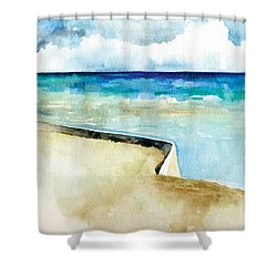 Ocean Pier In Key West Florida Shower Curtain by Catherine Twomey