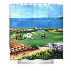 Shower Curtain featuring the painting Ocean Ranch by Lance Headlee