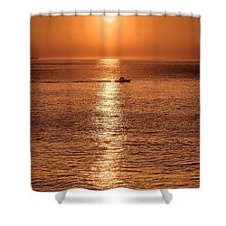 Ocean Sunrise At Montauk Point Shower Curtain