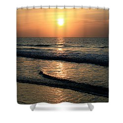 Ocean Sunrise Over Myrtle Beach Shower Curtain