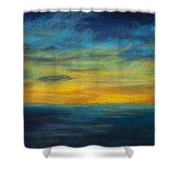 Ocean Sunset Shower Curtain by Dana Strotheide