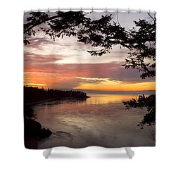 Shower Curtain featuring the photograph Ocean Sunset Deception Pass by Yulia Kazansky