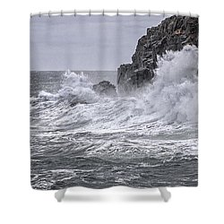 Ocean Surge At Gulliver's Shower Curtain by Marty Saccone