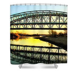 Ocean-to- Ocean Bridge Shower Curtain by Robert Bales