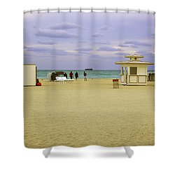 Ocean View 3 - Miami Beach - Florida Shower Curtain by Madeline Ellis