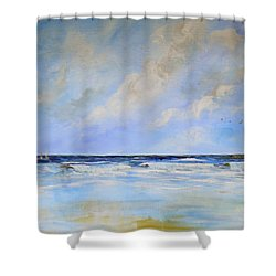 Ocean View Shower Curtain by Dorothy Maier