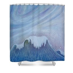 Ocean Wave Shower Curtain by Micah  Guenther