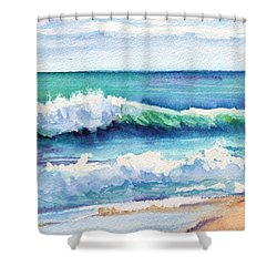 Ocean Waves Of Kauai I Shower Curtain by Marionette Taboniar