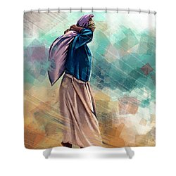 Ocean Work Shower Curtain by Zdralea Ioana