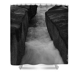 La Jolla Rocks In Surf  Shower Curtain
