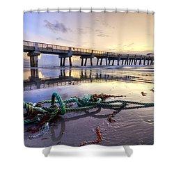 Ocean's Gift Shower Curtain by Debra and Dave Vanderlaan
