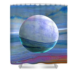 Shower Curtain featuring the painting Oceans by Robin Moline