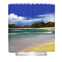 Shower Curtain featuring the digital art Oceanside Dream by Anthony Fishburne