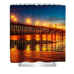 Oceanside Pier 2 Shower Curtain
