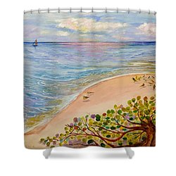 Seaside Grapes Shower Curtain
