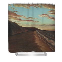 Oceanside Sunset Shower Curtain