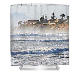 Oceanside California Shower Curtain by Tom Janca