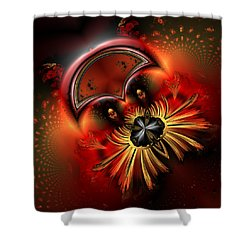 Ocf 199 Fido In Abstract Shower Curtain