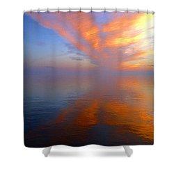 Ocracoke Nc Sunrise Shower Curtain